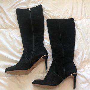 Coach black heeled boots